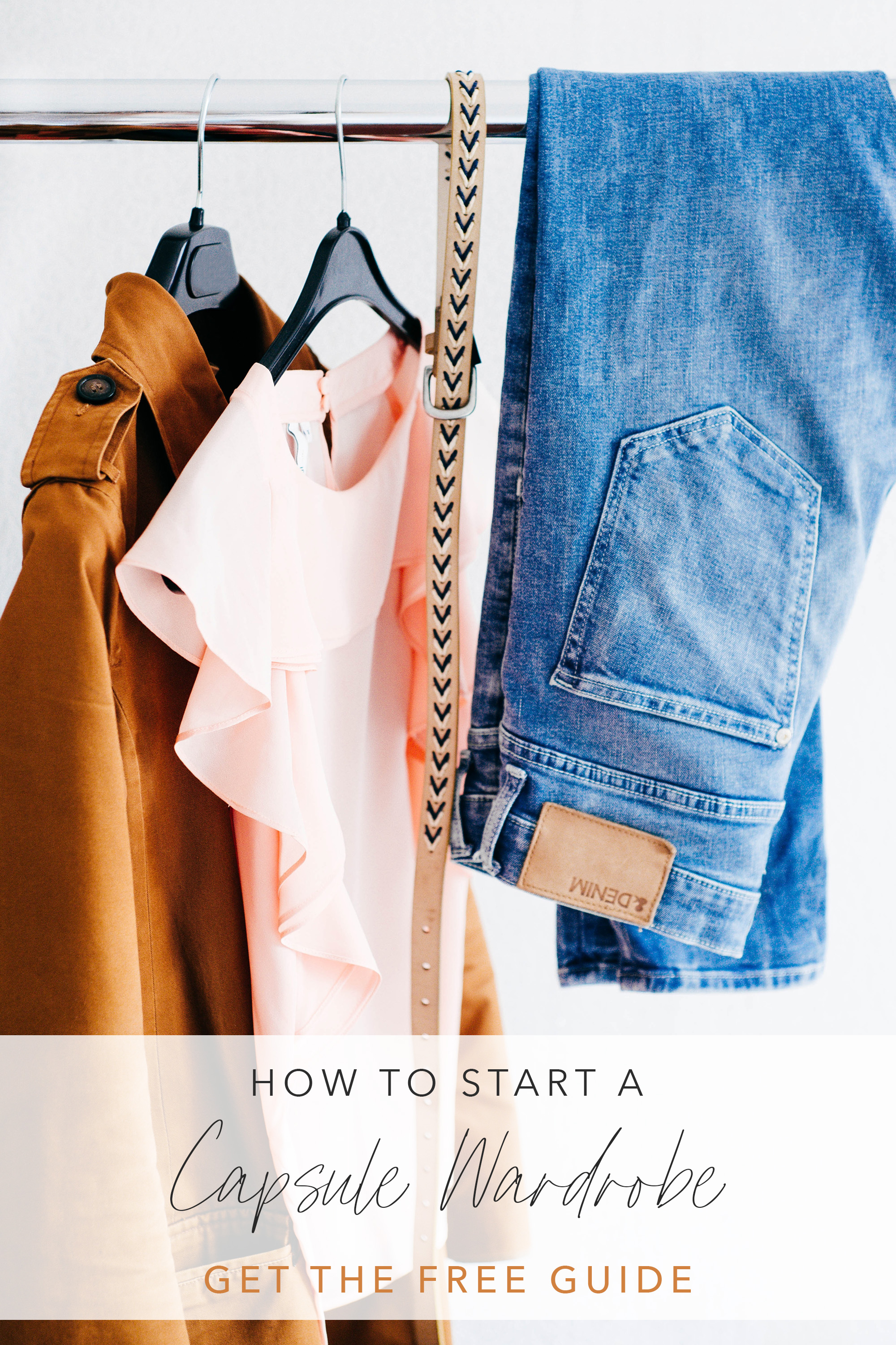 how to start a capsule wardrobe simple womens clothes hanging on rack