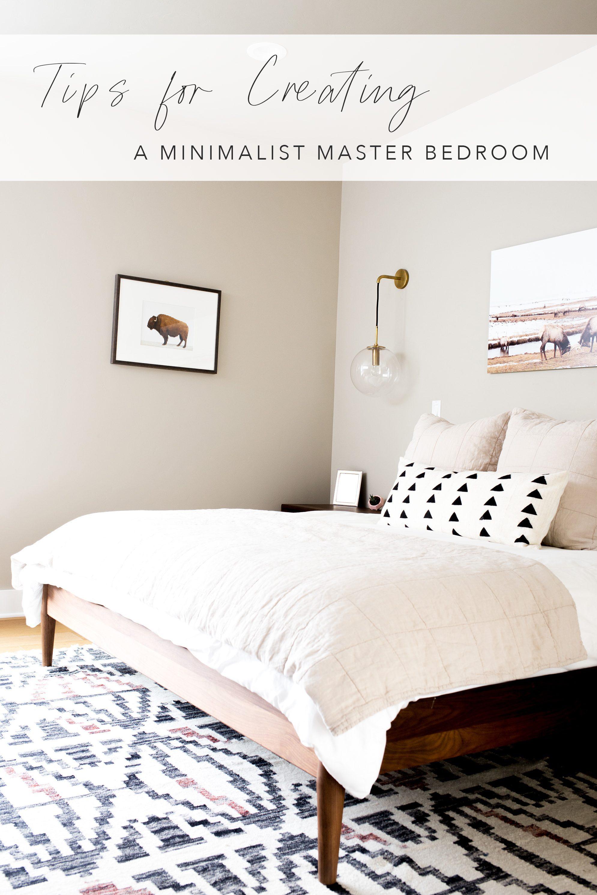 Our Minimalist Master Bedroom Modern Minimalism