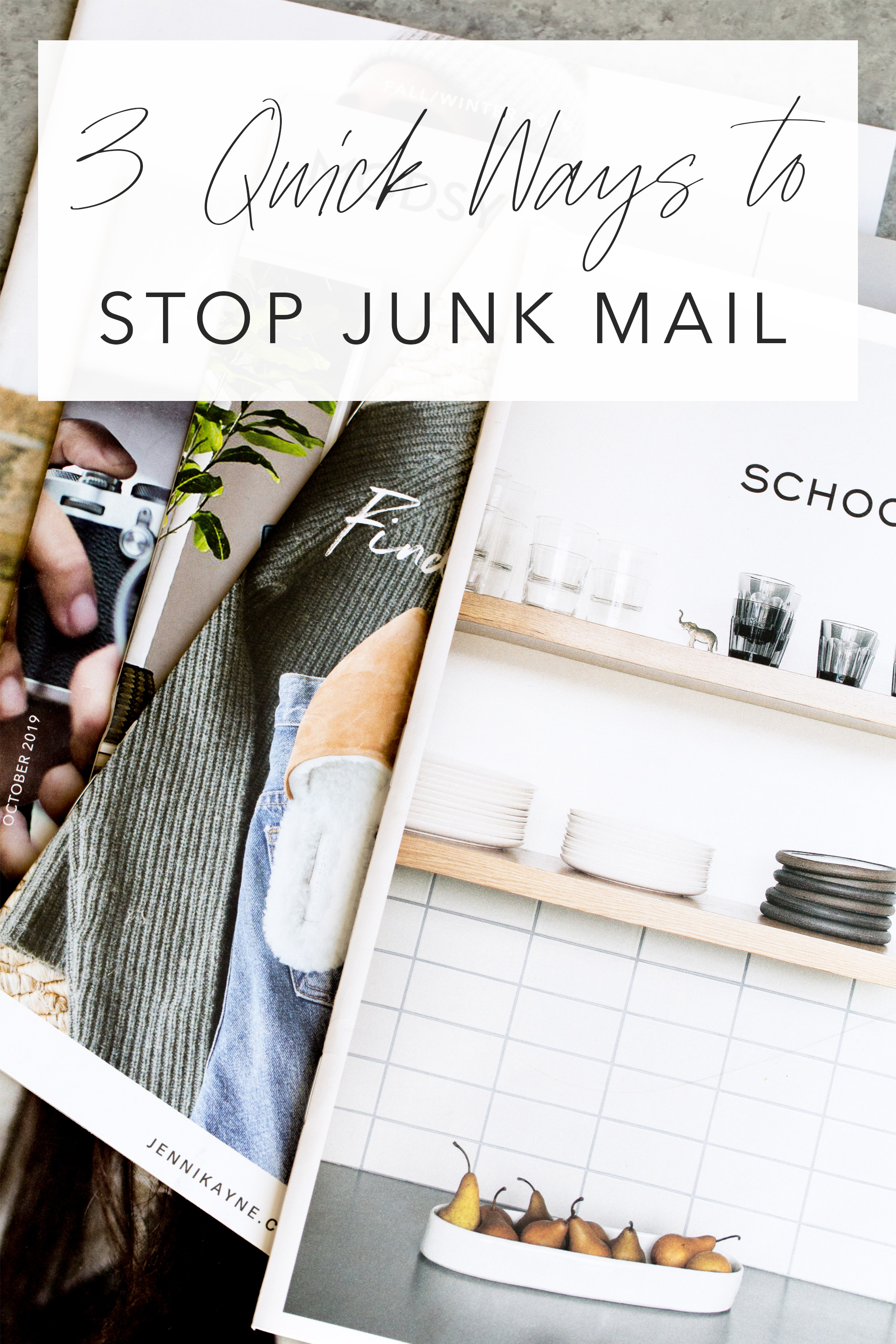 how to stop junk mail image with catalogs and text overlay